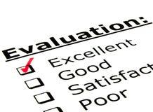 Formulário de avaliação Foto de Stock