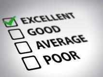 Formulário de avaliação - excelente ilustração royalty free