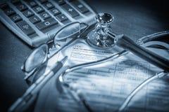 Formulário de crédito de seguro da saúde Imagem de Stock Royalty Free