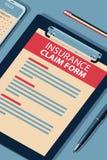 Formulário de crédito de seguro - ilustração isométrica da reticulação do vetor ilustração stock