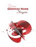 Formulário de cristal vermelho abstrato Fotos de Stock Royalty Free