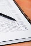 Formulário de imposto Fotos de Stock