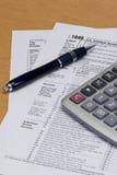 Formulário de imposto 1040 Foto de Stock Royalty Free