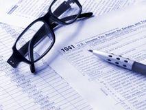 Formulário de imposto 1041 imagem de stock royalty free