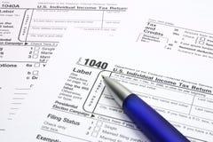 Formulário de imposto Imagens de Stock Royalty Free
