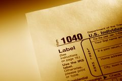Formulário de imposto Fotografia de Stock