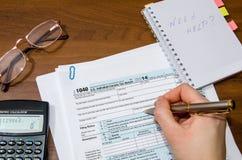 formulário de imposto 1040 Foto de Stock