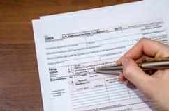 formulário de imposto 1040 Imagem de Stock