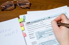formulário de imposto 1040 imagem de stock royalty free