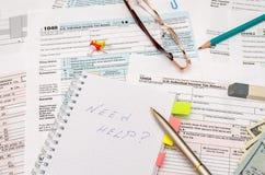 formulário de imposto 1040 Fotografia de Stock