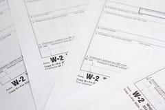 Formulário de imposto Fotografia de Stock Royalty Free