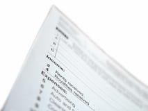 Formulário de imposto de Estados Unidos imagens de stock royalty free