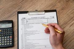 formulário de imposto 1120 do arquivamento imagem de stock royalty free