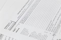 formulário de imposto 1040 E.U. Fotos de Stock Royalty Free