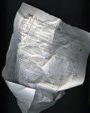 Formulário de imposto enrugado Fotos de Stock Royalty Free