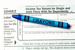 Formulário de imposto fácil Fotografia de Stock Royalty Free