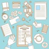 Formulário de Job Application ilustração royalty free