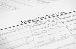 Formulário de Medicare Fotografia de Stock