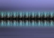 Formulário de onda azul Foto de Stock Royalty Free