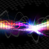 Formulário de onda musical do arco-íris Fotografia de Stock