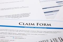 Formulário de reclamação Imagens de Stock