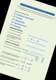 Formulário de reivindicação da redundância da destituição ilustração royalty free