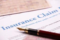 Formulário de reivindicação em branco do seguro imagens de stock