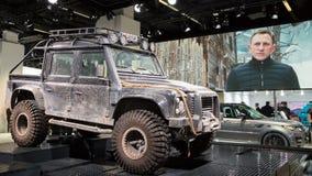 Formulário de Rover Defender da terra o filme do espectro imagens de stock
