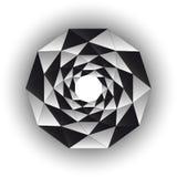 Formulário de torção branco preto triangular interno isolado no branco ilustração stock