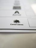 Formulário de votação com logotipo conservador fotos de stock royalty free