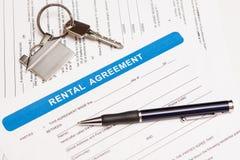Formulário do acordo Rental Imagem de Stock Royalty Free