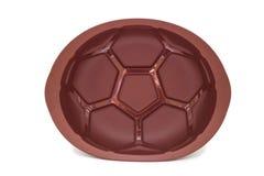 Formulário do cozimento do silicone de Brown para o bolo isolado Fotografia de Stock