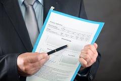 Formulário do empréstimo hipotecario Fotos de Stock