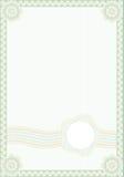 Formulário do estilo do Guilloche para o diploma ilustração stock
