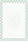 Formulário do estilo do Guilloche para o diploma ou certific em branco ilustração do vetor