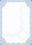 Formulário do estilo do Guilloche para o diploma ou o certificado ilustração do vetor