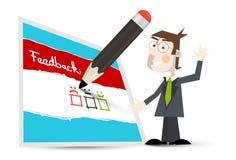 Formulário do feedback Ícone do feedback do vetor ilustração do vetor