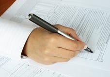 Formulário do IRS Foto de Stock