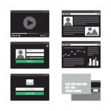 Formulário do molde da Web Fotos de Stock