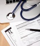 Formulário do paciente de Rx Imagens de Stock Royalty Free