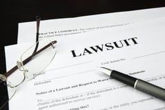Formulário do processo legal Fotos de Stock