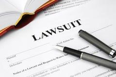 Formulário do processo legal Fotografia de Stock Royalty Free