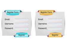 Formulário do registro ilustração royalty free