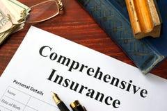 Formulário do seguro detalhado fotos de stock