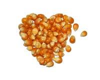 Formulário dos grãos na forma do coração Imagens de Stock Royalty Free