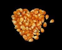Formulário dos grãos na forma do coração Fotos de Stock