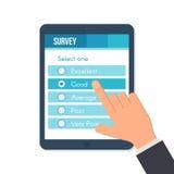 Formulário em linha da avaliação ilustração royalty free