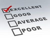 Formulário excelente do exame da qualidade do cliente Imagem de Stock Royalty Free
