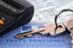 Formulário francês dos impostos sobre os bens imóveis fotografia de stock royalty free