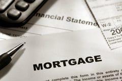 Formulário genérico da hipoteca dos bens imobiliários fotografia de stock